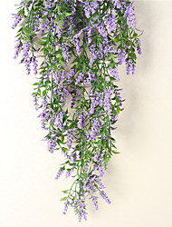 cheap -Imitation artificial flower vine green plant leaves decorate the new lavender wall hanging flower decoration