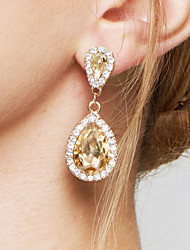 cheap -Women's Drop Earrings Earrings Fashion Elegant Bridal Adorable Costume Jewelry Zircon Imitation Diamond Alloy Drop Jewelry For Wedding
