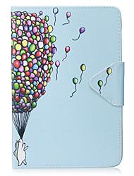 billige -Taske til ipad mini 1 2 3 mini 4 tilfælde dækning ballon mønster pu materiale triple tablet pc tilfælde telefon sag