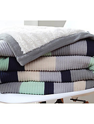 Knitted Stripe 100% Cotton Blankets