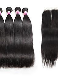 Ciocche a onde capelli veri Brasiliano Ondulato naturale 1 anno 5 pezzi tesse capelli kg Onde