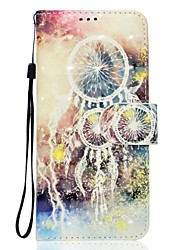 Case For Sony Xperia XZ XA1 Dream Catcher Pattern 3D PU Wallet Leather Card Holder with Hand Strap for Sony Xperia XA Ultra E5 XA