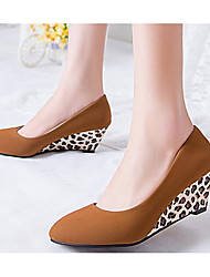 Damen Schuhe Echtes Leder PU Sommer Komfort Pumps High Heels Für Normal Schwarz Khaki