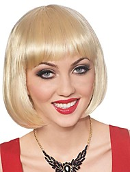 cheap -Synthetic Wig Straight Bob Haircut Blonde Women's Capless Natural Wigs Short Synthetic Hair
