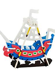 abordables -Puzzles 3D Puzzle Bateau Articles d'ameublement A Faire Soi-Même En bois Bois Classique Enfant Cadeau