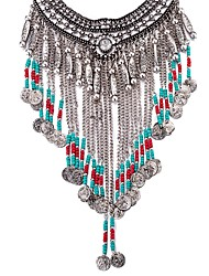 Women's Pendant Necklaces Statement Necklaces Crystal AAA Cubic Zirconia Geometric Crystal Silver Plated Glass Zircon AlloyBasic Tassel