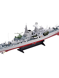 cheap -RC Boat HT-2879 Warship Remote Control Boat Ship Model ABS Plastic 4 Channels 6 KM/H Super Big Size