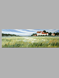 cheap -IARTS® Hand Painted Modern Abstract Country Summer Holiday Manor Oil Painting On Canvas with Stretched Frame Wall Art For Home Decoration
