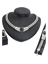 cheap -Women's Necklace Classic Fashion Wedding Party Engagement Gift Ceremony Rhinestone Silver Plated