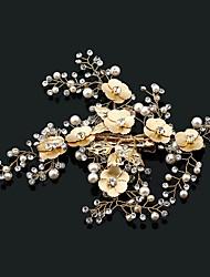 cheap -Imitation Pearl Rhinestone Alloy Flowers Hair Clip Hair Claws Headpiece