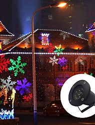 LED Snowflake 6W Outdoor Lawn Snowflake Lamp AC100 240V Natural White Red Blue Green