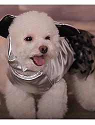 baratos -Cachorro Vestidos Roupas para Cães Poá Dourado / Prata Algodão Ocasiões Especiais Para animais de estimação Homens / Mulheres Casual