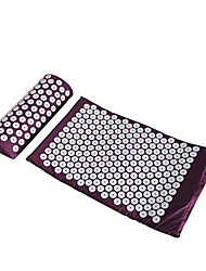 Massager (Appro.67*42Cm)Massage Cushion Acupressure Mat Relieve Stress Pain Acupuncture Spike Yoga Mat With Pillow Random Color