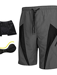 cheap -SANTIC Men's Cycling Padded Shorts - Grey Bike Shorts / MTB Shorts / Padded Shorts / Chamois, 3D Pad, Quick Dry, Breathable Polyester,