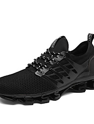 cheap -Men's Shoes Stretch Satin Tulle Spring Fall Comfort Athletic Shoes Running Shoes Split Joint for Athletic Casual Outdoor Black Red Green