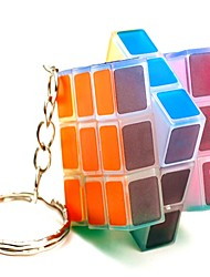 Rubik's Cube Smooth Speed Cube Transparent Sticker Adjustable spring LED Lighting Magic Cube ABS Gift