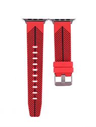 economico -Per la cinghia di orologio della vigilanza di iwatch serie 2 1 silicone sostituisce la banda di forma fisica 38mm 42mm