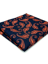 cheap -MH25 Unique Men's Pocket Square Handkerchiefs Blue Paisley 100% Silk Wedding Casual New Business