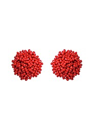 Women's Stud Earrings Fashion Bohemian Personalized Plastic Ball Jewelry For Daily Casual Going out Street