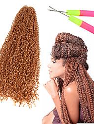 Afro Kinky Braids Hair Braid Afro Jerry Curl Curly Weave Crochet 100% Kanekalon Hair Black Burgundy Blonde Strawberry Blonde Medium