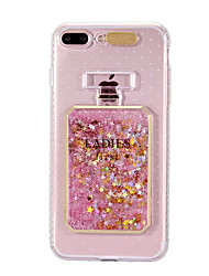 cheap -Case For Apple iPhone 8 iPhone 8 Plus Flowing Liquid LED Flash Lighting Pattern Back Cover Glitter Shine Soft TPU for iPhone 8 Plus
