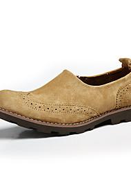 preiswerte -Herrn Schuhe Kunstleder Leder Frühling Herbst Komfort Loafers & Slip-Ons für Normal Kaffee Kamel Khaki