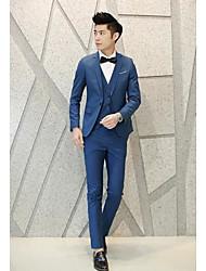 cheap -Men's Cotton Suits - Solid Colored Notch Lapel