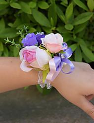 """Fleurs de mariage Petit bouquet de fleurs au poignet Cérémonie de mariage 1.97""""(Env.5cm)"""
