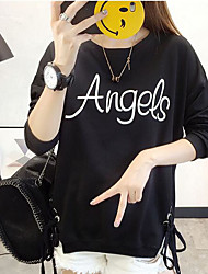 Women's Going out Hoodie Letter Hooded Micro-elastic Others Long Sleeve Spring Fall