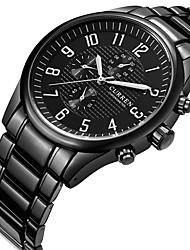 cheap -CURREN Men's Sport Watch / Military Watch / Wrist Watch Creative / Casual Watch / Cool Stainless Steel Band Charm / Luxury / Casual Black / Two Years / Maxell SR626SW