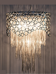 cheap -Droplight Of Contemporary And Contracted Restaurant Bedroom Lamp Personality Married The American Sweet Romance Circular Chain Tassel Of Lamps And Lan