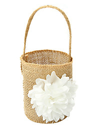 "cheap -Flower Basket Linen 9 7/8"" (25 cm) Lace Flower 1"