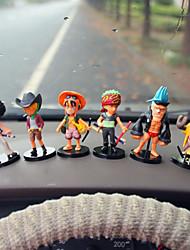 DIY Automotive Ornaments  Pirates Car Dolls Gift 6  Car Pendant   & Ornaments  Jade Crystal