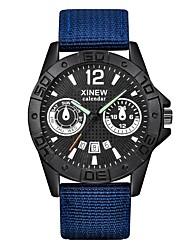 baratos -Homens Relógio de Pulso Chinês Calendário / Impermeável / Criativo Tecido Banda Casual / Fashion / Elegante Preta / Azul / Marrom / Aço Inoxidável / Xingguang 377