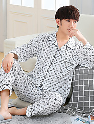 Miesten Puuvilla Muu Pyjaman-, Miesten