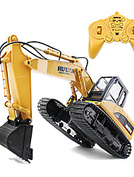 cheap -RC Car HUINA 1350 15 Channel 2.4G Construction Truck Excavator 1:14 KM/H Remote Control / RC Rechargeable Electric
