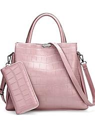 preiswerte -Damen Taschen PU Bag Set 2 Stück Geldbörse Set für Normal Ganzjährig Blau Schwarz Rote Rosa