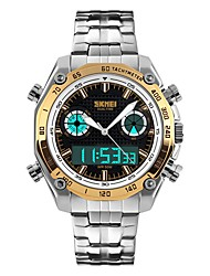 cheap -Men's Fashion Watch Wrist watch Japanese Quartz Alarm Calendar / date / day Chronograph Water Resistant / Water Proof Dual Time Zones