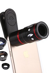 cheap -Coiorvis Mobile Phone Lens 12X Telephoto 0.67X Wide Angle 180  Fish Eyes 15X Macro External Lens