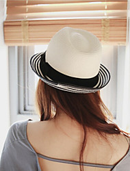 cheap -Women's Straw Straw Hat Sun Hat,Casual Vacation Hats Solid Summer Pure Color Bow