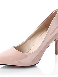 cheap -Women's Shoes Patent Leather Summer Comfort Heels Stiletto Heel Pointed Toe for Dress Red Light Blue Light Pink Nude Burgundy