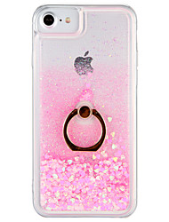 cheap -Case For Apple iPhone 7 Plus iPhone 7 Flowing Liquid Ring Holder Back Cover Glitter Shine Hard PC for iPhone 7 Plus iPhone 7 iPhone 6s