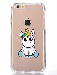 Per iPhone X iPhone 8 Custodie cover Transparente Fantasia/disegno Custodia posteriore Custodia Unicorno Cartoni animati Morbido TPU per