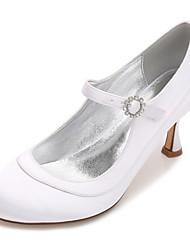 baratos -Mulheres Sapatos Cetim Primavera / Verão Plataforma Básica / MaryJane / Conforto Sapatos De Casamento Salto Sabrina / Salto Baixo / Salto