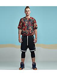 T-shirt Da uomo Sport Spiaggia Per eventi Per uscire Casual Semplice Moda città Attivo Per tutte le stagioni,Camouflage Alfabetico Rotonda