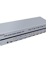 DTech VGA Splitter VGA to VGA Splitter Female - Female Four Input Four Output
