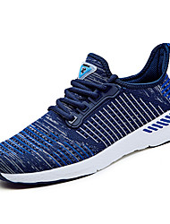 cheap -Men's Athletic Shoes Comfort Light Soles Summer Fall Knit Running Shoes Athletic Casual Outdoor Office & Career Lace-up Flat Heel Royal