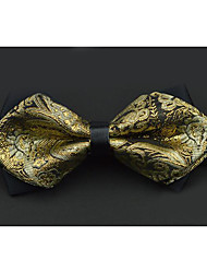 cheap -Men's Others Bow Tie,Others Wedding Print Gold Silver Red Blushing Pink Purple