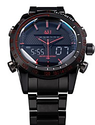 cheap -ASJ® Men's Full Steel Sport Watch Japanese Quartz Analog-Digital LED/LCD/Multifunctional/Water Resistant/Alarm Military Cool Watch Unique Watch