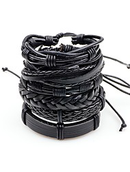 Men's Leather Bracelet Rock Multi-ways Wear Leather Irregular Jewelry For Stage Going out